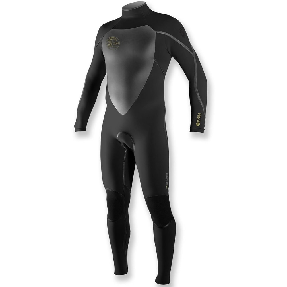 O'neill Men's Heat Zip Fsw 4/3 Full Wetsuit - Black, M