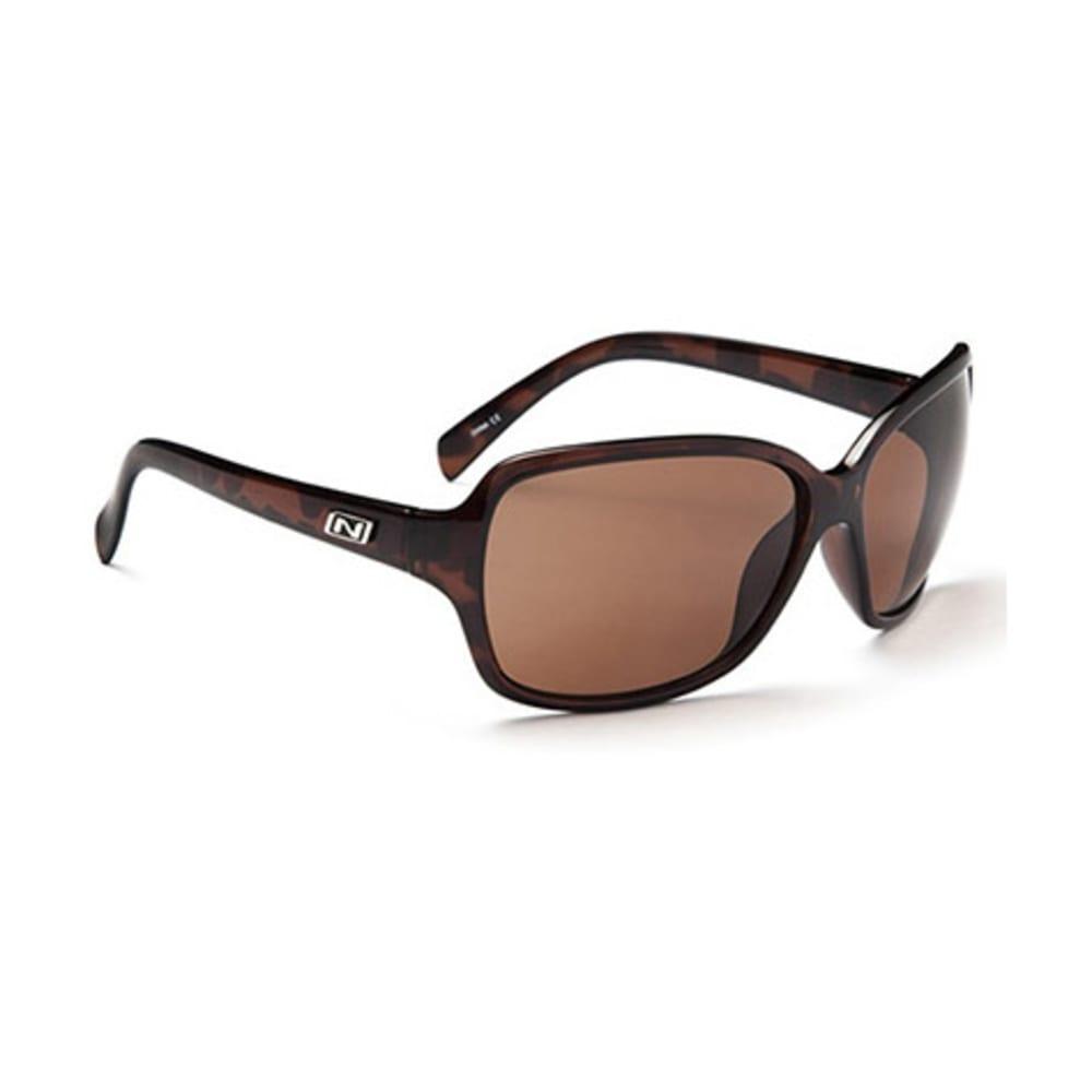 OPTIC NERVE Women's Elixer Sunglasses, Shiny Dark Demi - DARK BROWN