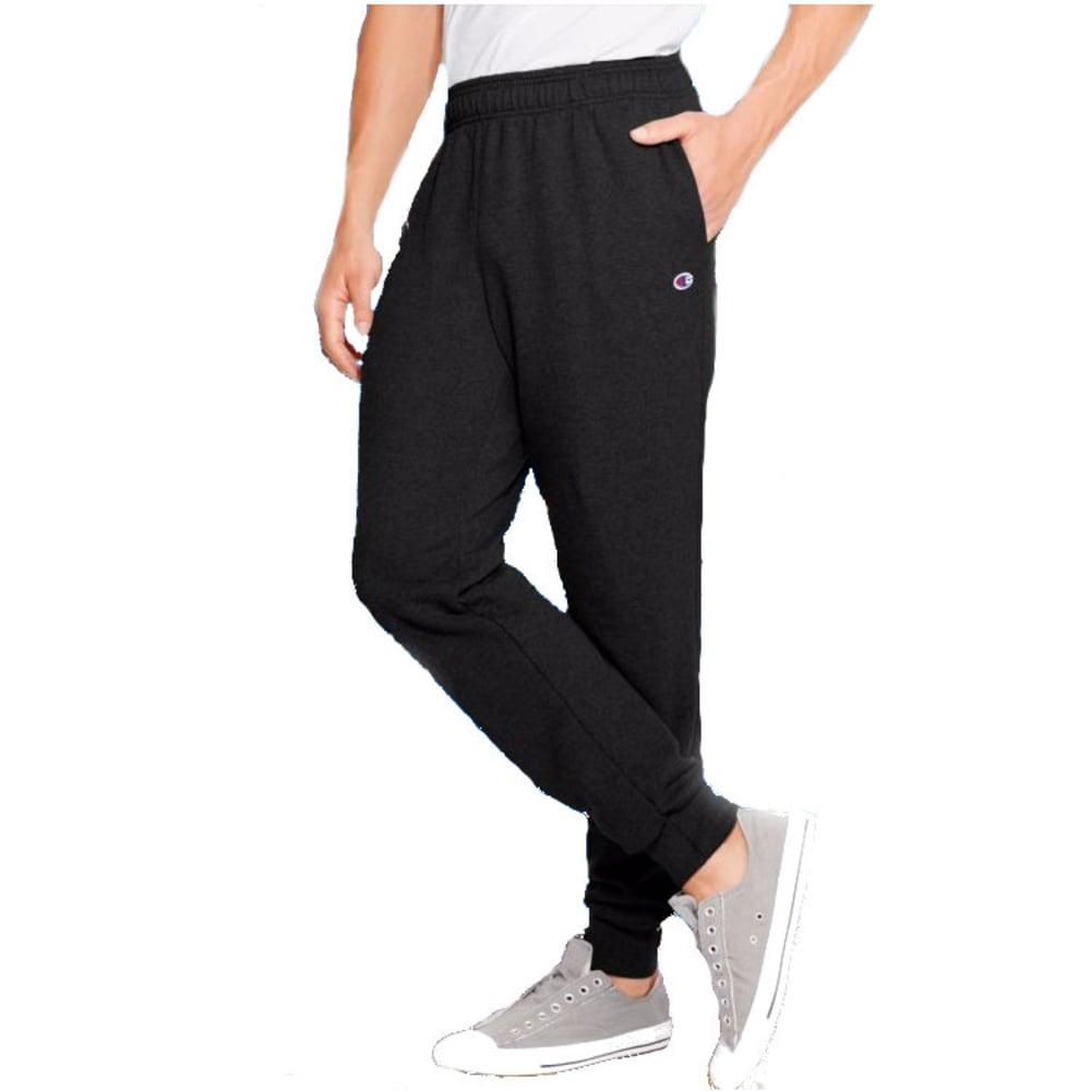 CHAMPION Men's Fleece Jogger Pants - BLACK-003