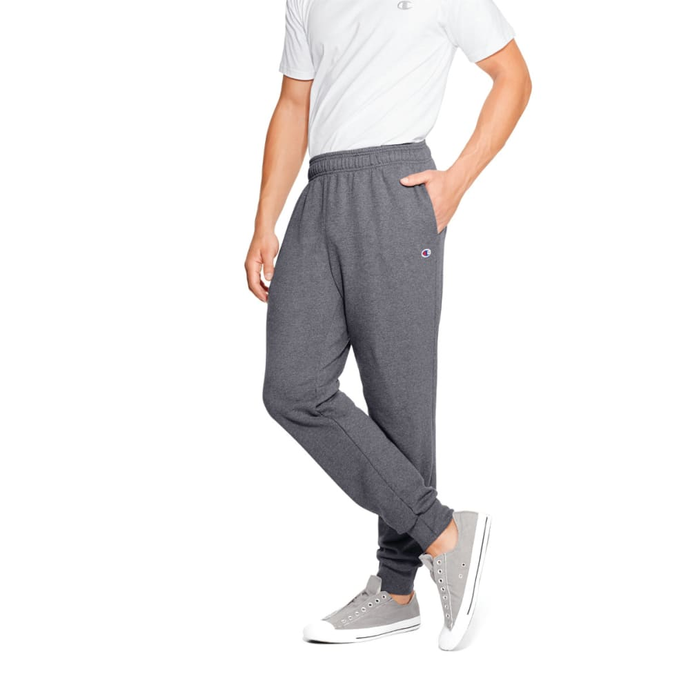 CHAMPION Men's Fleece Jogger Pants - GRANITE HTHR-G61