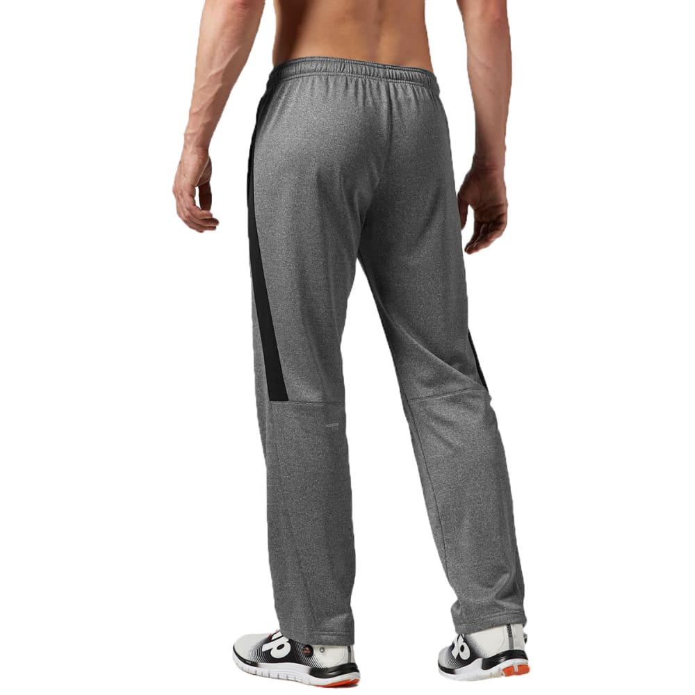 REEBOK Men's Workout Ready Poly Fleece Pants - DARK GREY HEATHER