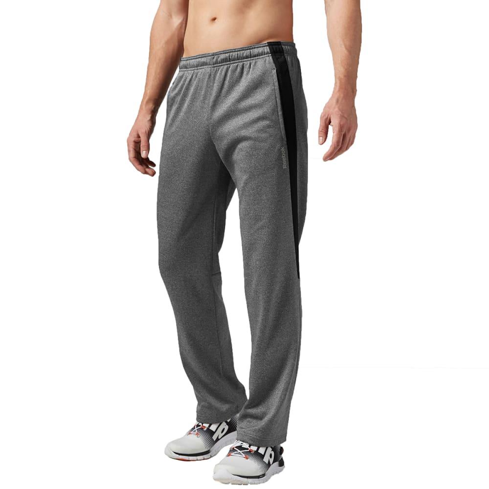 REEBOK Men's Workout Ready Poly Fleece Pants - DARK GREY HEATHER