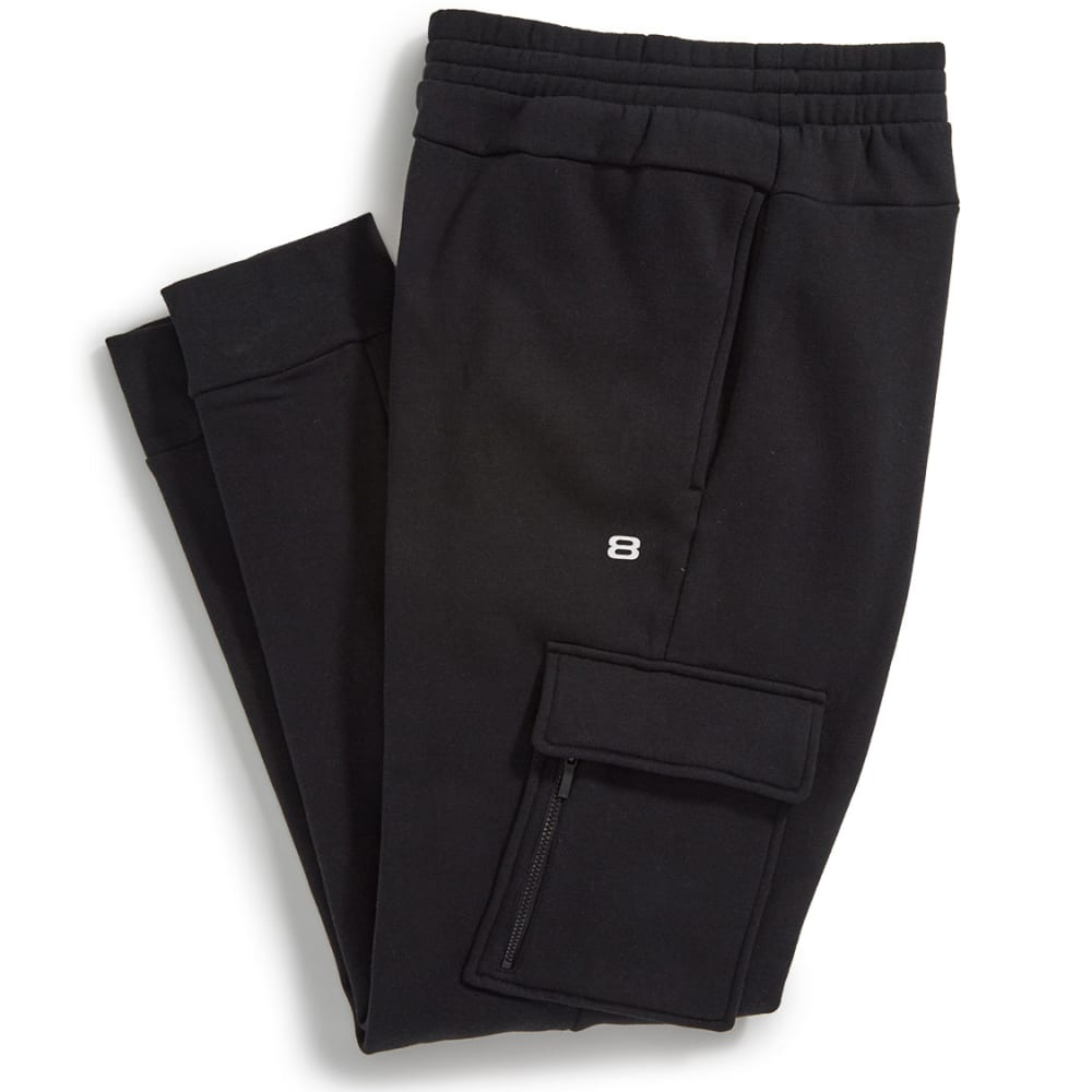 LAYER 8 Men's Fleece Jogger Pants - BLACK-RCB