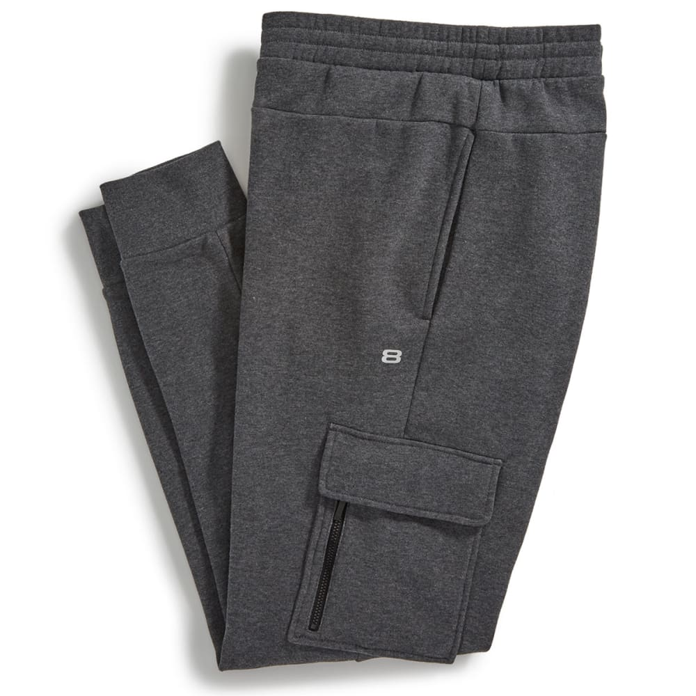 LAYER 8 Men's Fleece Jogger Pants - CHARCOAL HEATHER-CGH