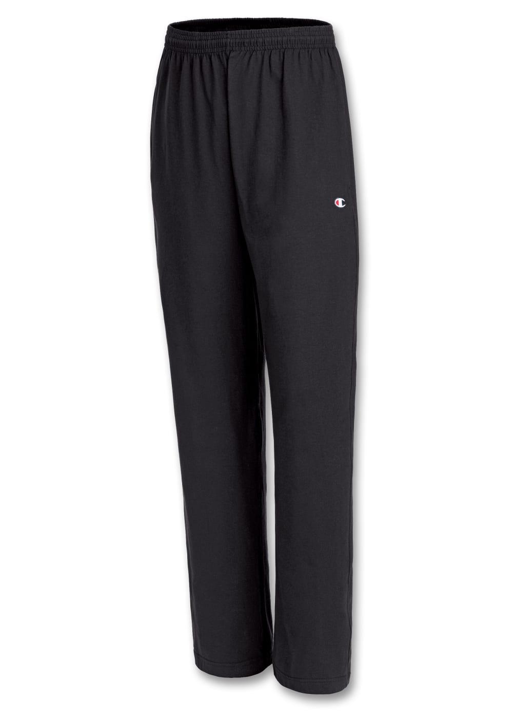 CHAMPION Men's Cotton Jersey Pants - BLACK-003
