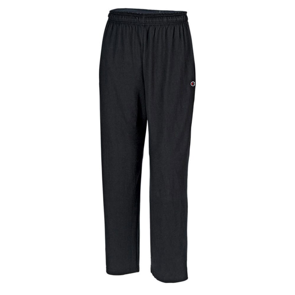 Champion Men's Open Bottom Jersey Pants - Black, S