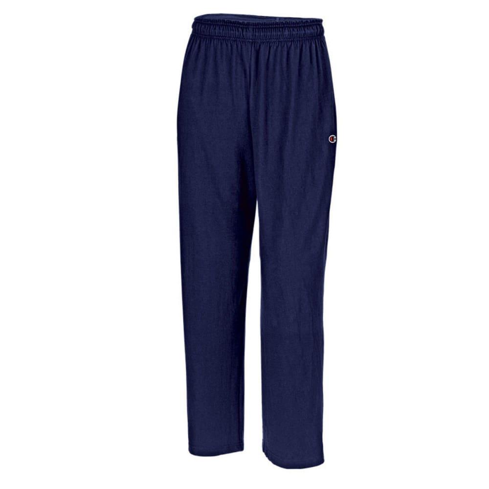 CHAMPION Men's Open Bottom Jersey Pants - NAVY-031