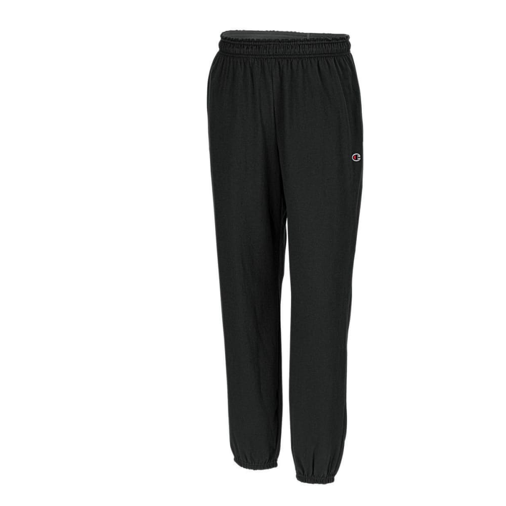 CHAMPION Men's Closed Bottom Jersey Pants - BLACK-003