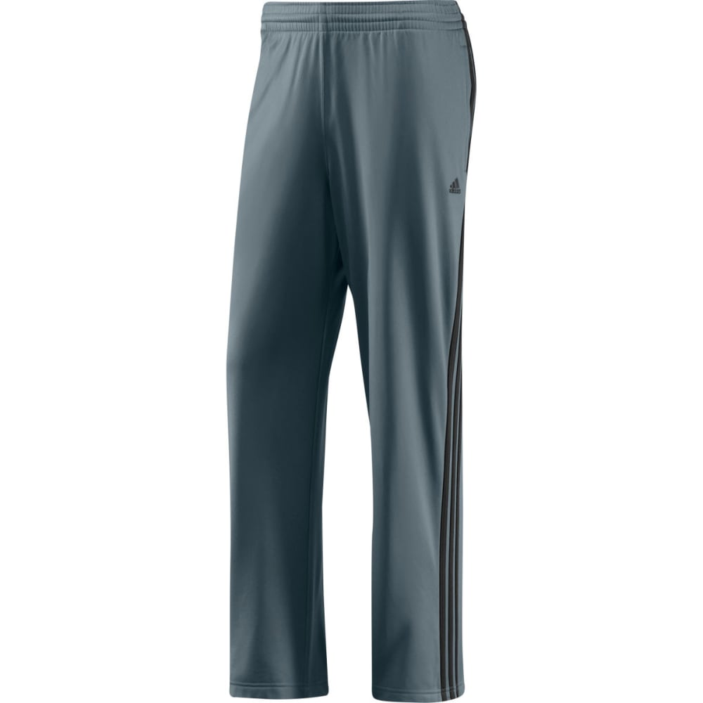 ADIDAS Men's 3 Stripe Tricot Pants - LEAD/BLACK-253812
