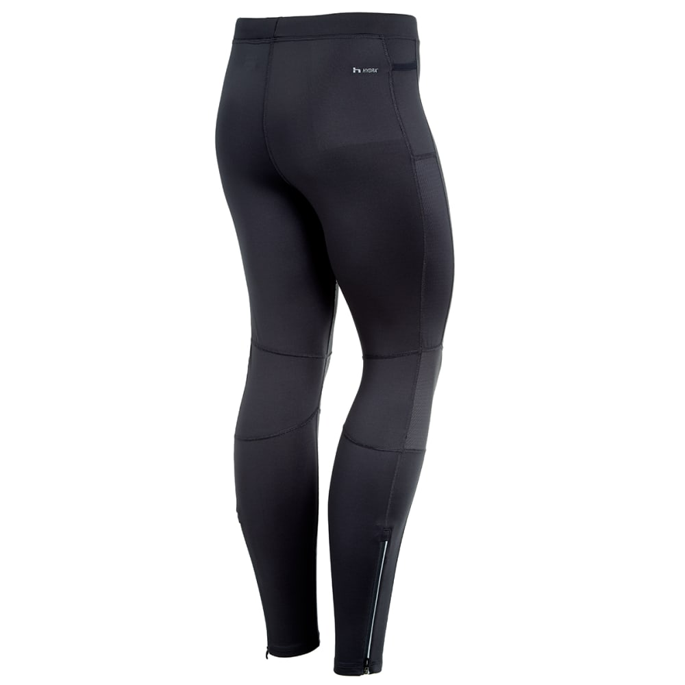 HIND Men's Stretch Running Tights - BLACK-BLK