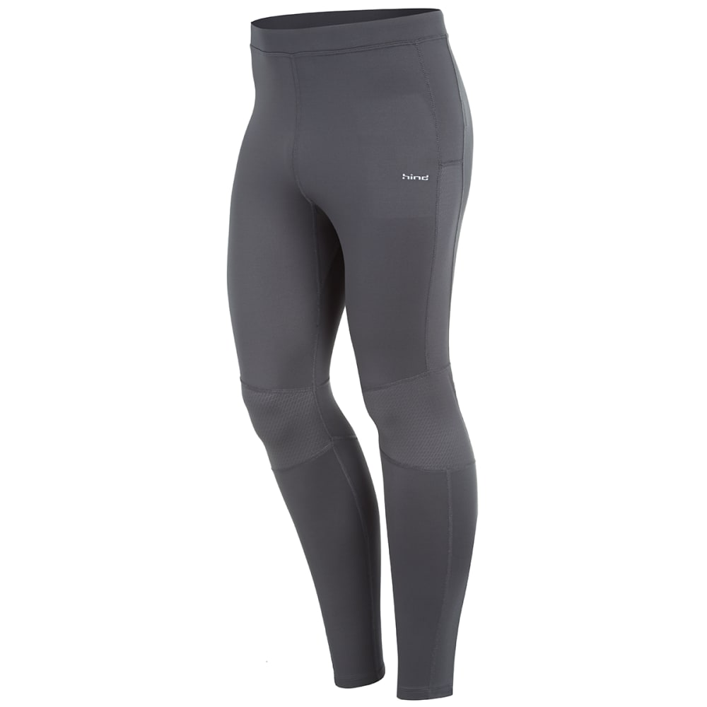 HIND Men's Stretch Running Tights - ANTHRACITE-AHC