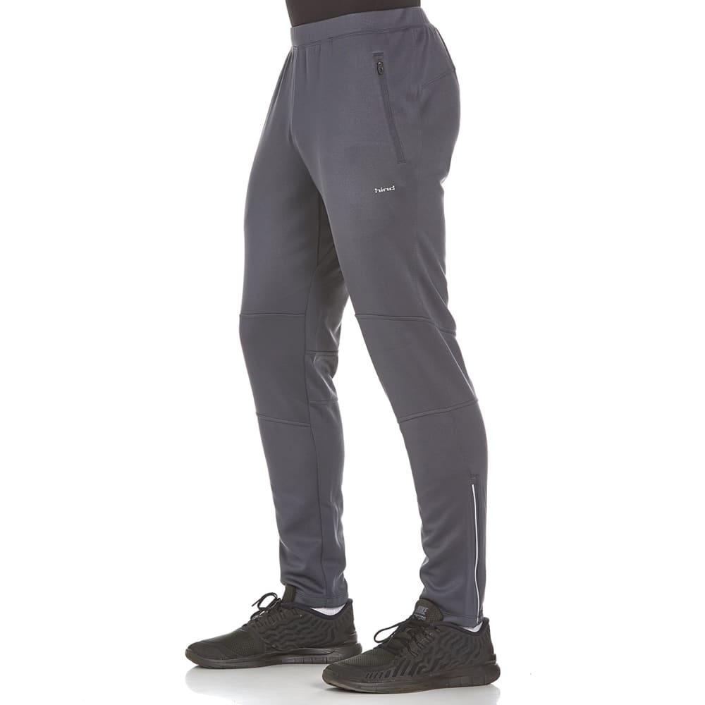 HIND Men's Slim Fit Brushed Running Pants - ANTHRACITE-AHC