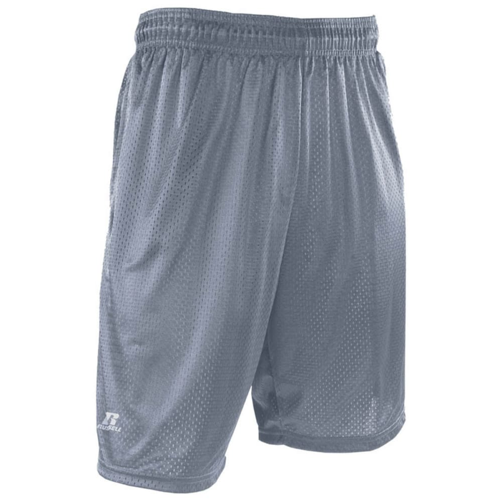 RUSSELL ATHLETIC Men's Mesh Pocketed Shorts - STEEL-STE