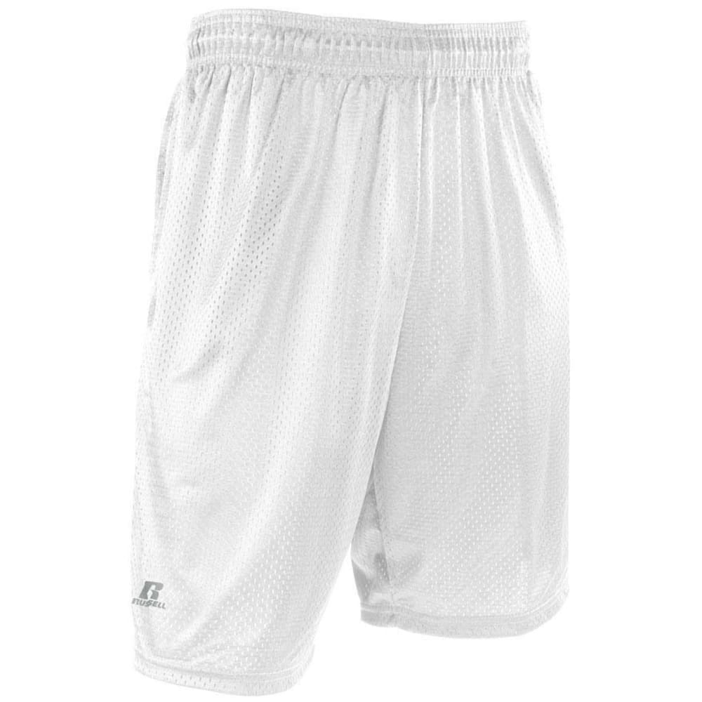 RUSSELL ATHLETIC Men's Mesh Pocketed Shorts - WHITE-WHI