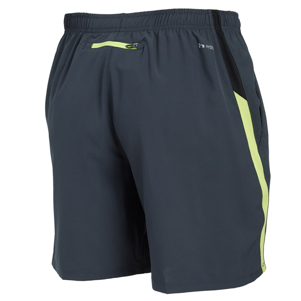 HIND Men's Woven Stretch Shorts - ANTHRACITE/LEMON-AHC