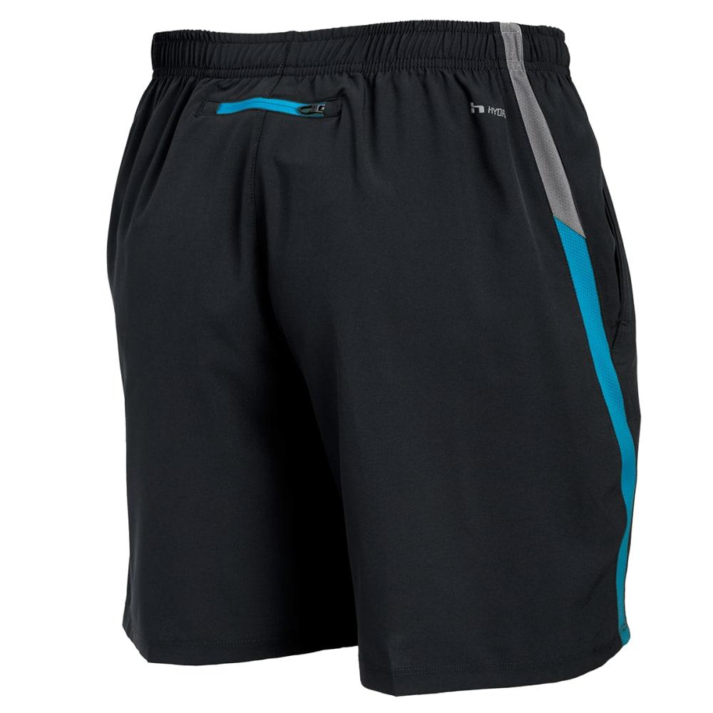 HIND Men's Woven Stretch Shorts - BLACK/NEPTUNE-BLK