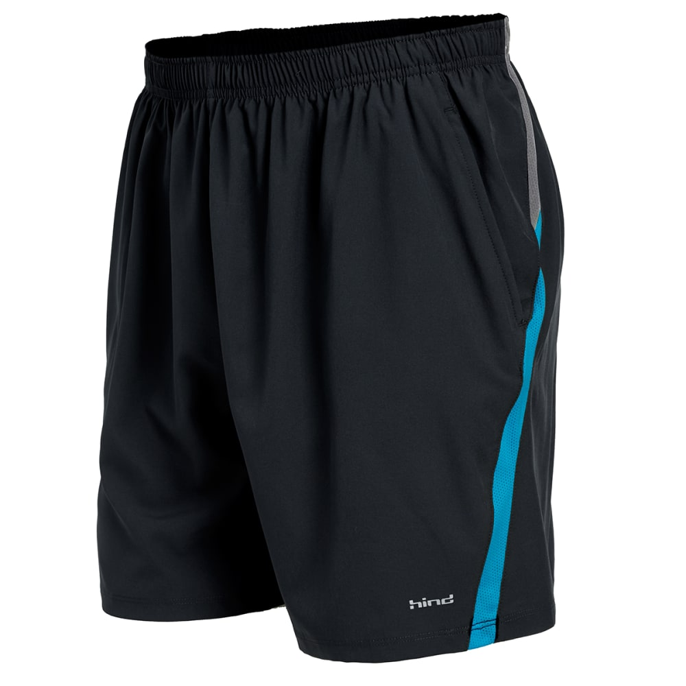 HIND Men's Woven Stretch Shorts - BLACK/NEPTUNE-BLK