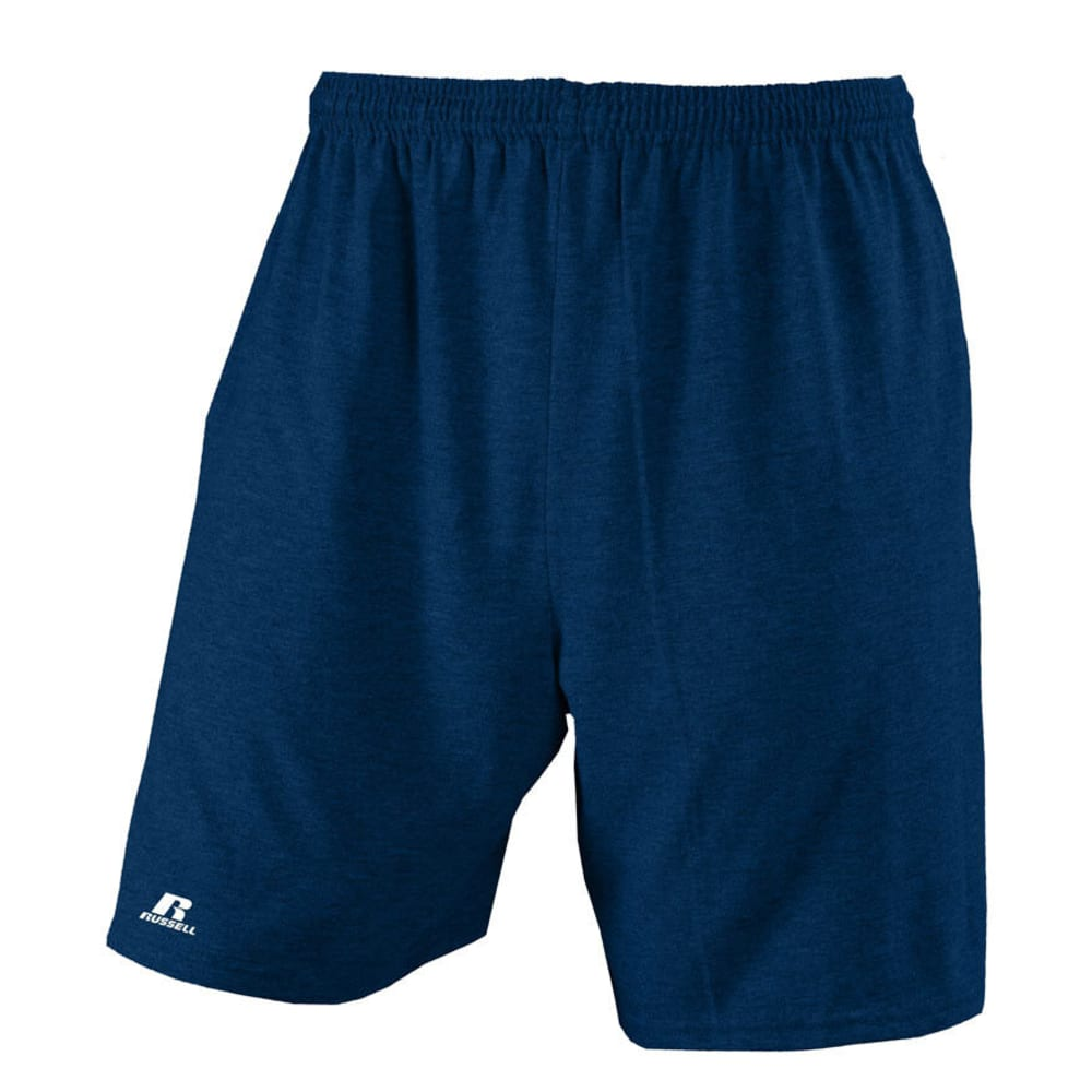 RUSSELL ATHLETIC Men's Basic Pocketed Jersey Shorts -  VALUE DEAL - NAVY