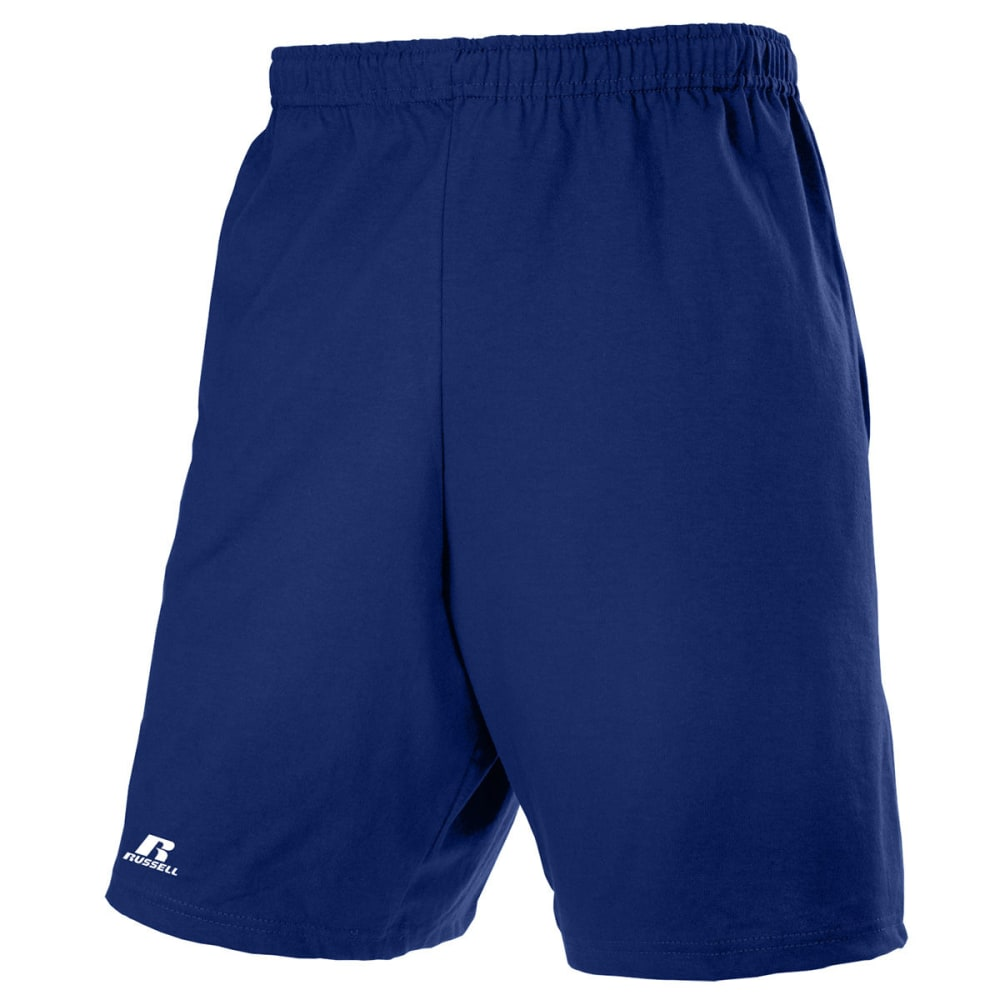RUSSELL ATHLETIC Men's Basic Pocketed Jersey Shorts S