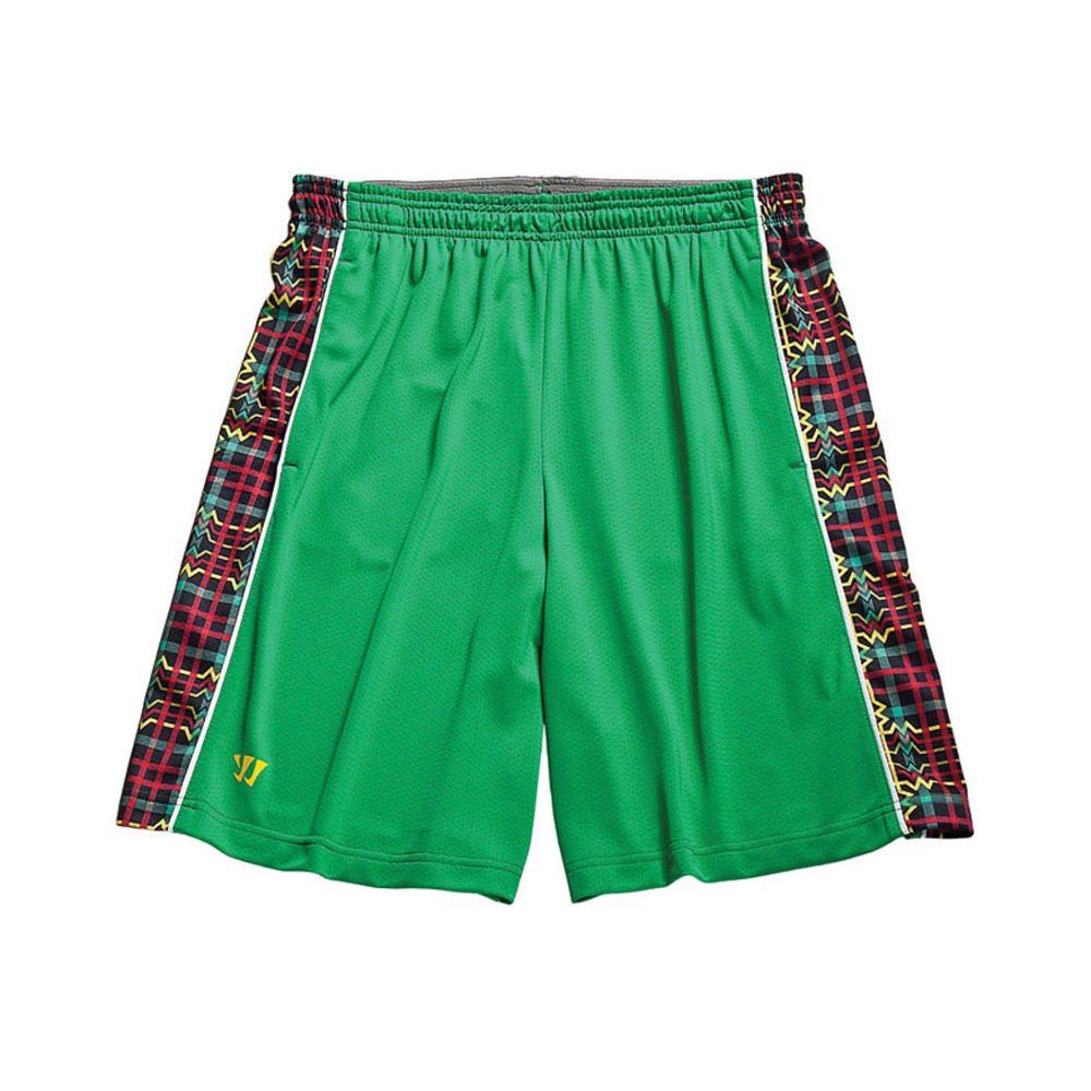 WARRIOR Men's Ain't So Aztec Shorts - GREEN