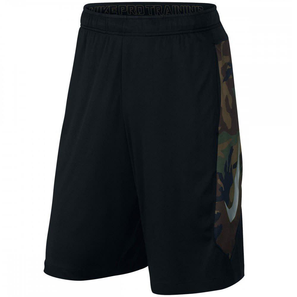 NIKE Mens' Hyperspeed Knit Camo Shorts - BLACK/VOLT-010