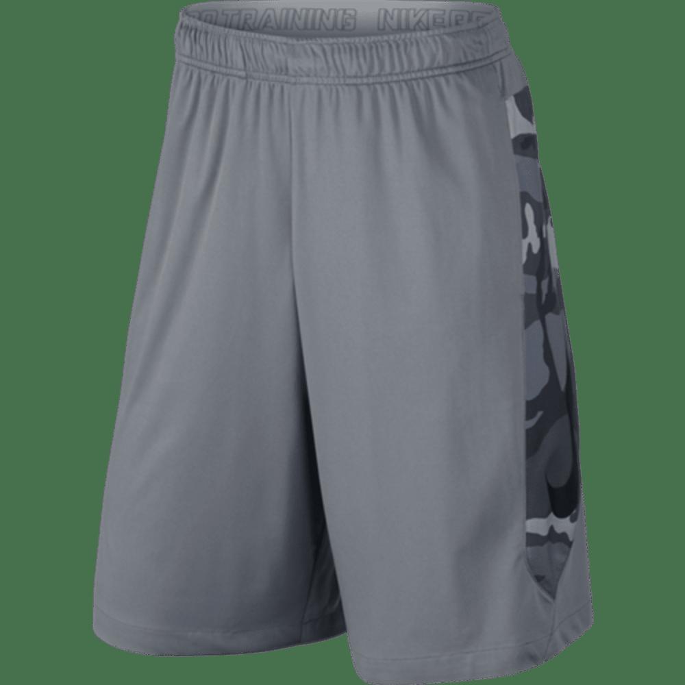 NIKE Mens' Hyperspeed Knit Camo Shorts - GREY-065
