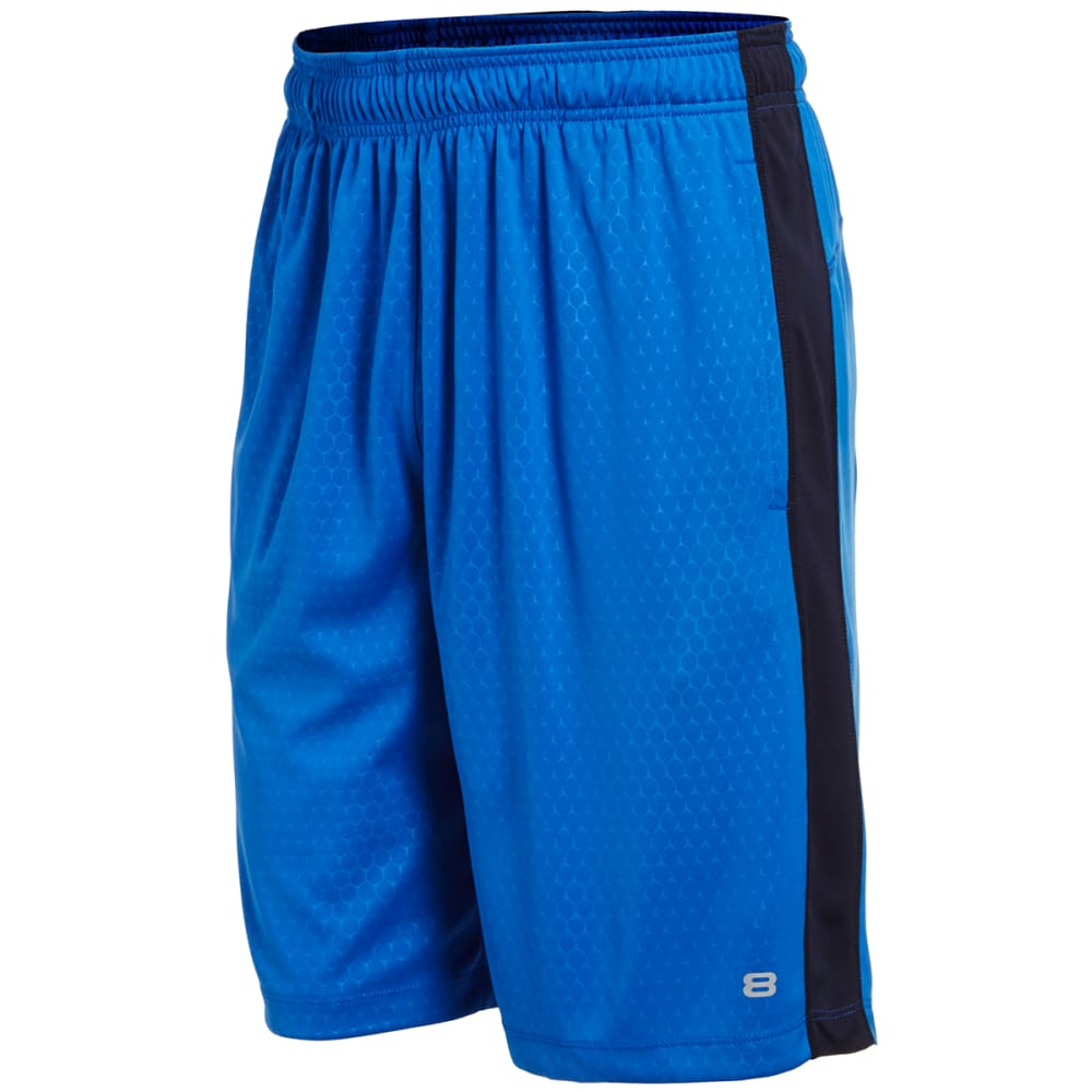 LAYER 8 Men's Training Shorts - ROYAL BLUE-ROY