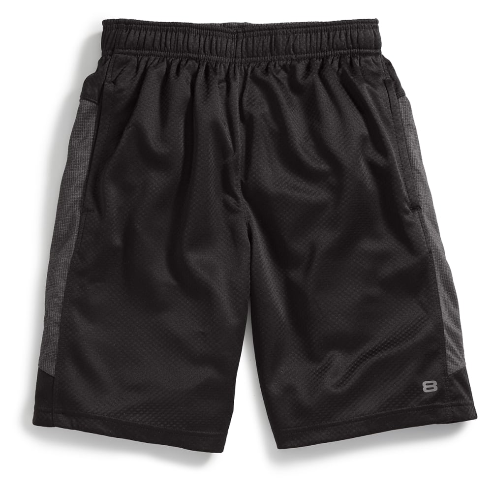 LAYER 8 Men's Poly Bubble Shorts - RICH BLACK-RCB