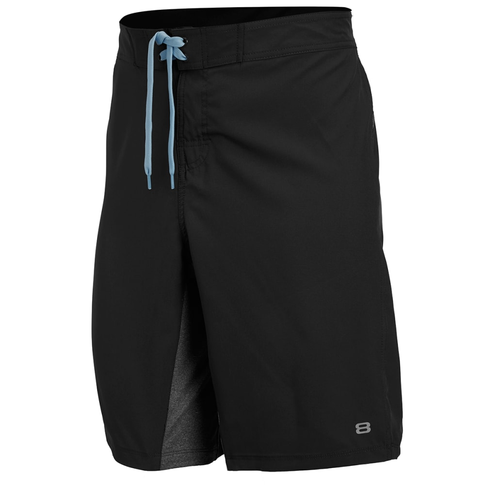 LAYER 8 Men's Cross Training Shorts - BLACK-RCB