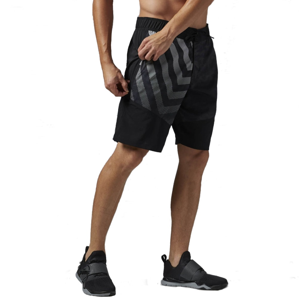 REEBOK Men's Workout Ready Boardshorts - HEATHER BLACK-AJ2964