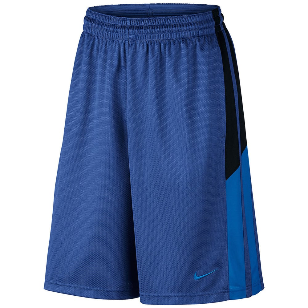 NIKE Men's Status Basketball Shorts - ROYAL/BLACK-480