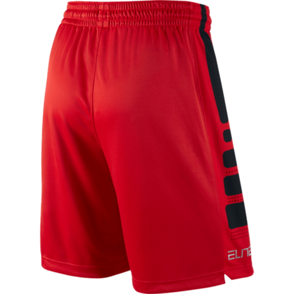 NIKE Men's Elite Basketball Shorts - RED/BLACK-657