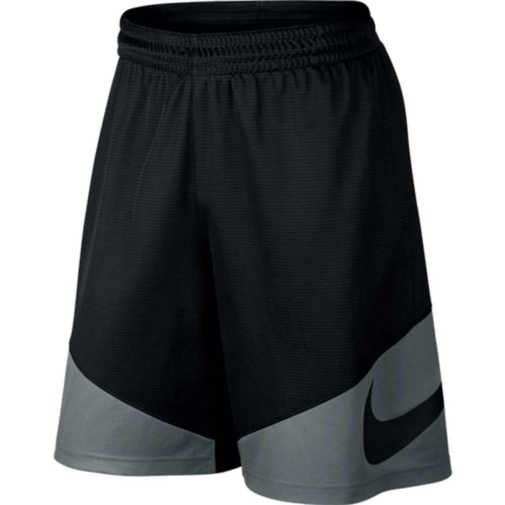 NIKE Men's HBR Basketball Shorts - BLK/COOL GRY-010