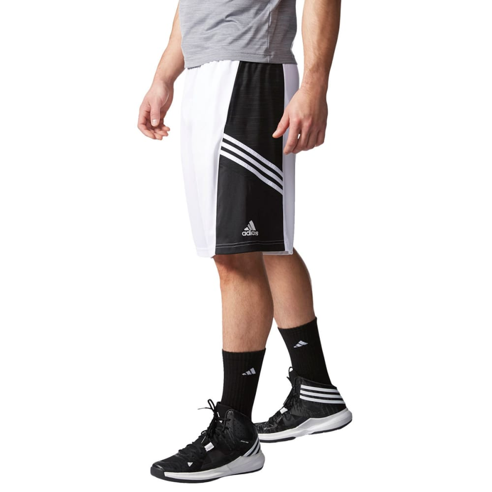 ADIDAS Men's Team Speed Practice Shorts, Blue - WHITE/BLACK-S11204