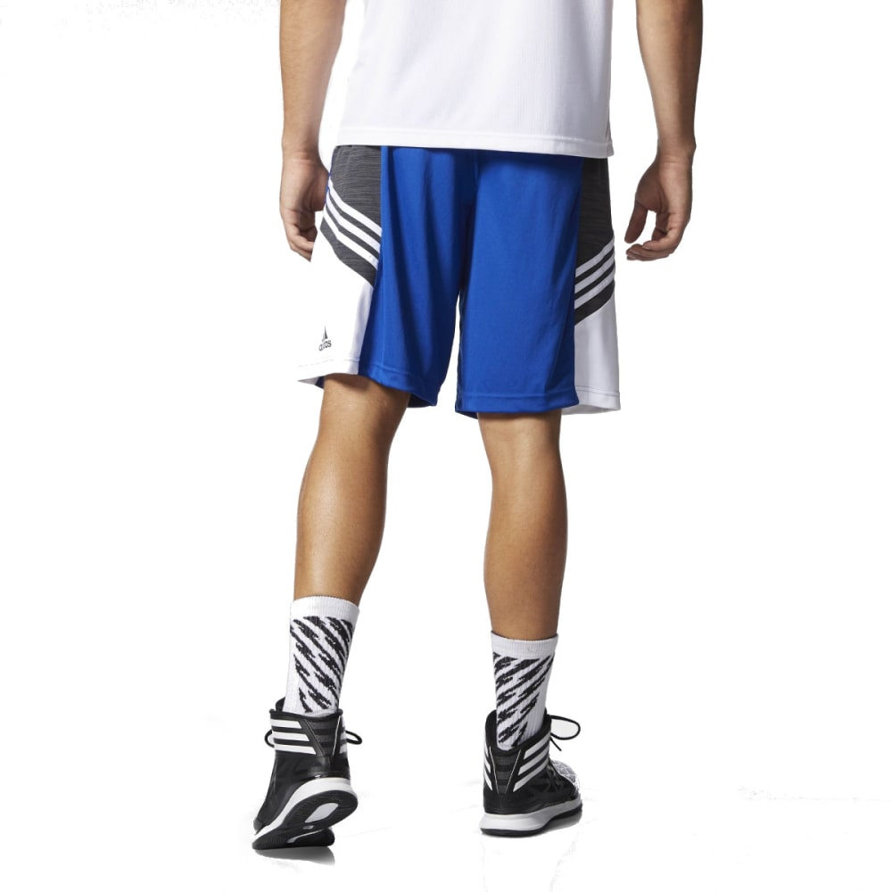 ADIDAS Men's Team Speed Practice Shorts, Blue - RYL/DGH/WHT-AA6348
