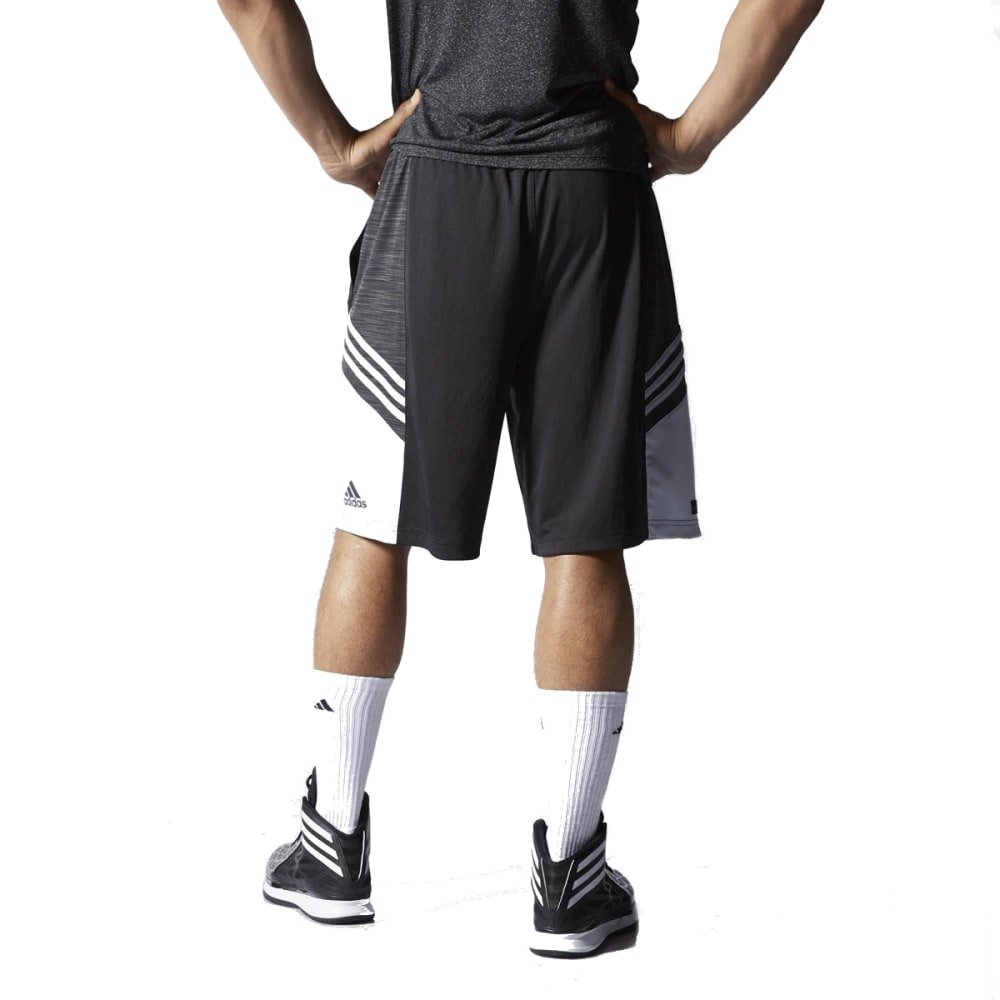 ADIDAS Men's Crazy Ghost Practice Basketball Shorts - BLACK/GREY-F84459