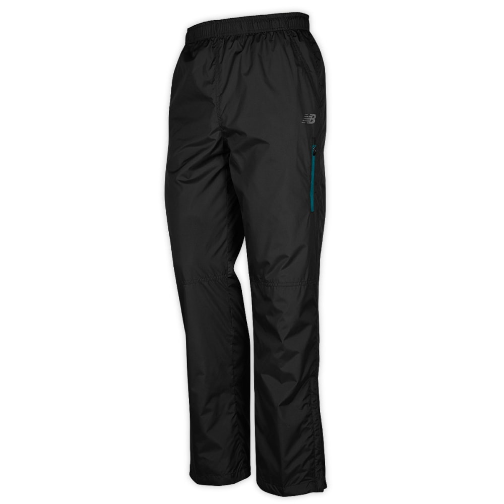 NEW BALANCE Men's Ripstop Wind Pants - BLACK/BLUE