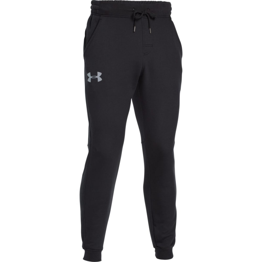 UNDER ARMOUR Men's Rival Fleece Jogger Pants - BLACK