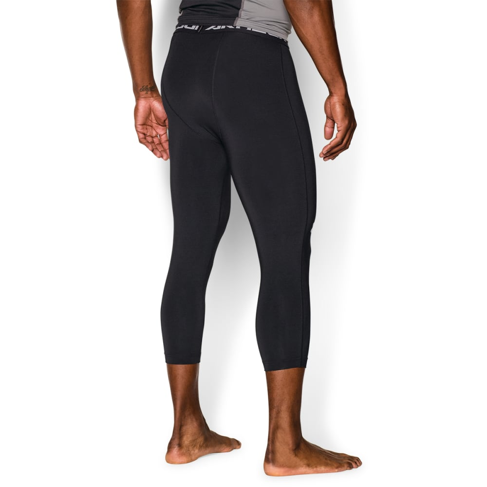 UNDER ARMOUR Men's HeatGear® Armour 3/4 Compression Leggings - BLACK/WHITE-001