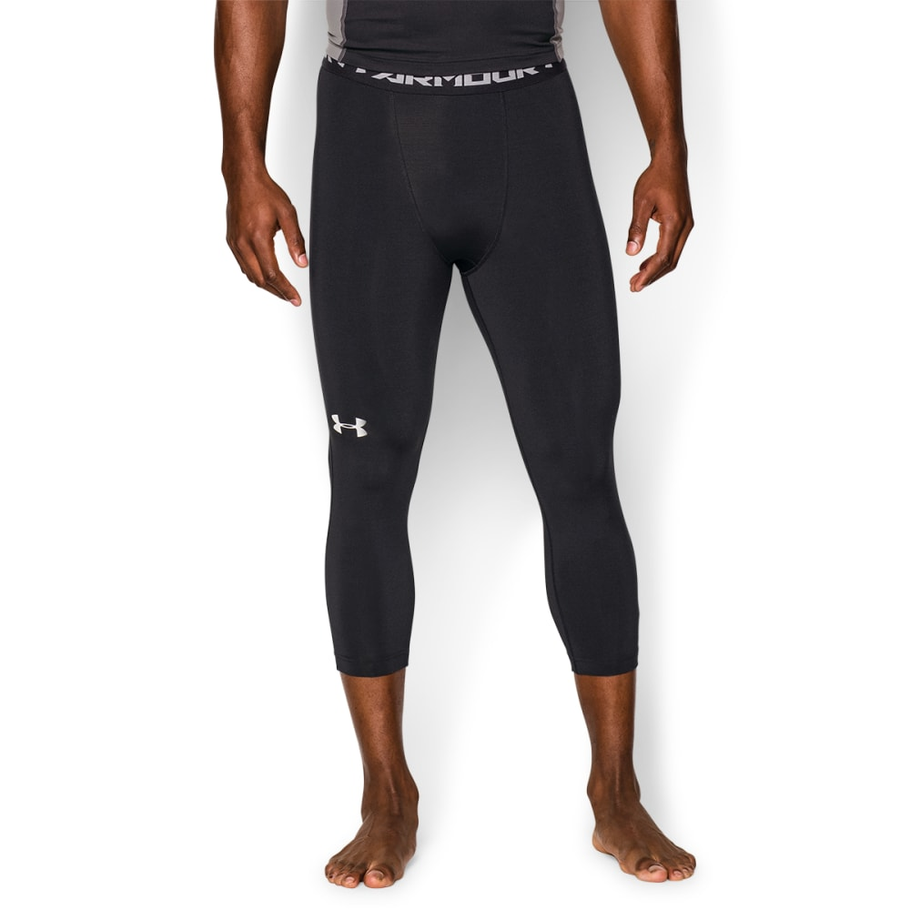 UNDER ARMOUR Men's HeatGear® Armour 3/4 Compression Leggings - BLACK/WHITE-001