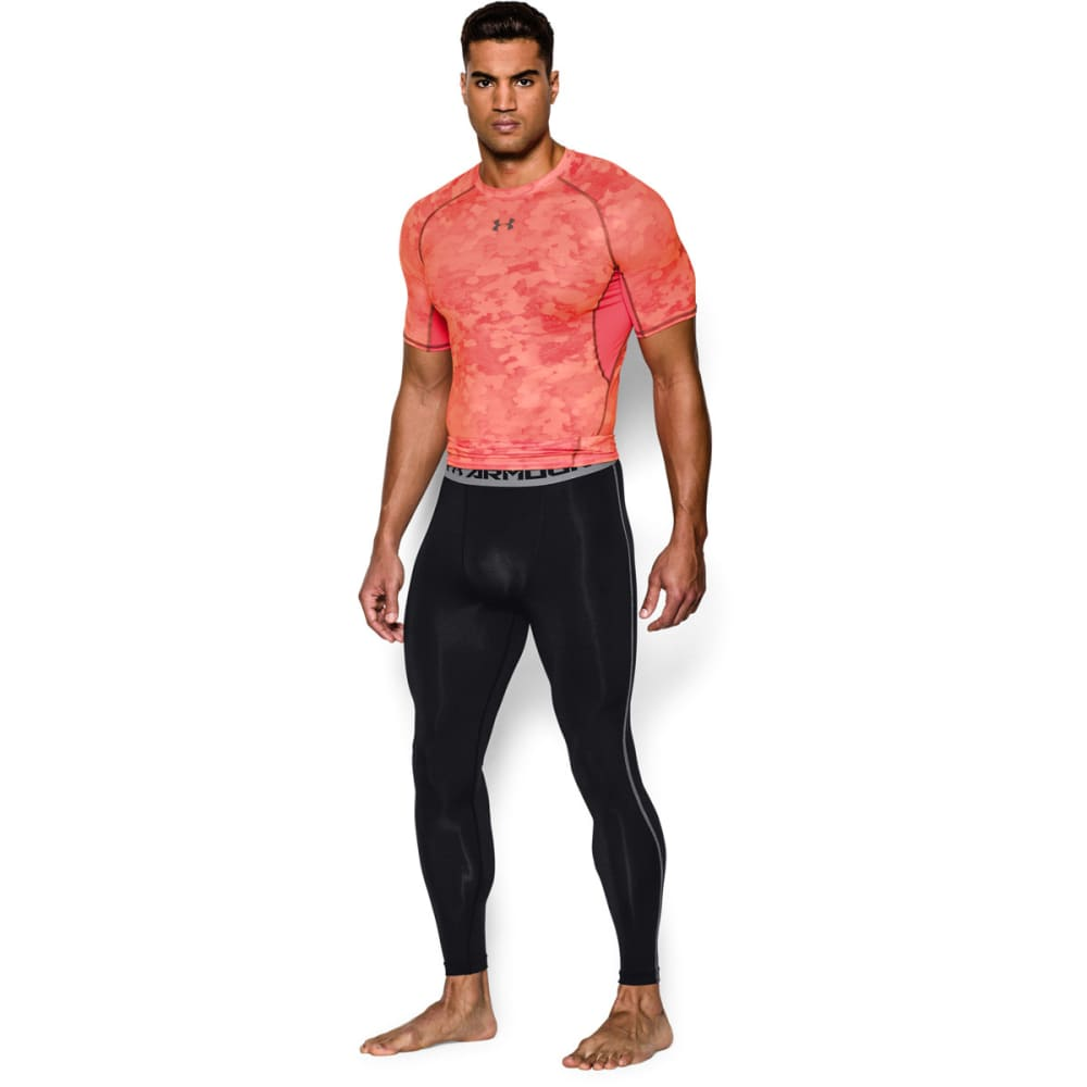 UNDER ARMOUR Men's HeatGear® Armour Compression Leggings - BLACK/STEEL-001