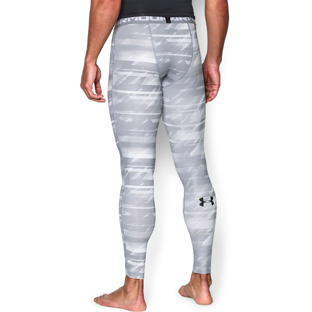 UNDER ARMOUR Men's HeatGear® Armour Printed Compression Leggings - FROSTED GREY