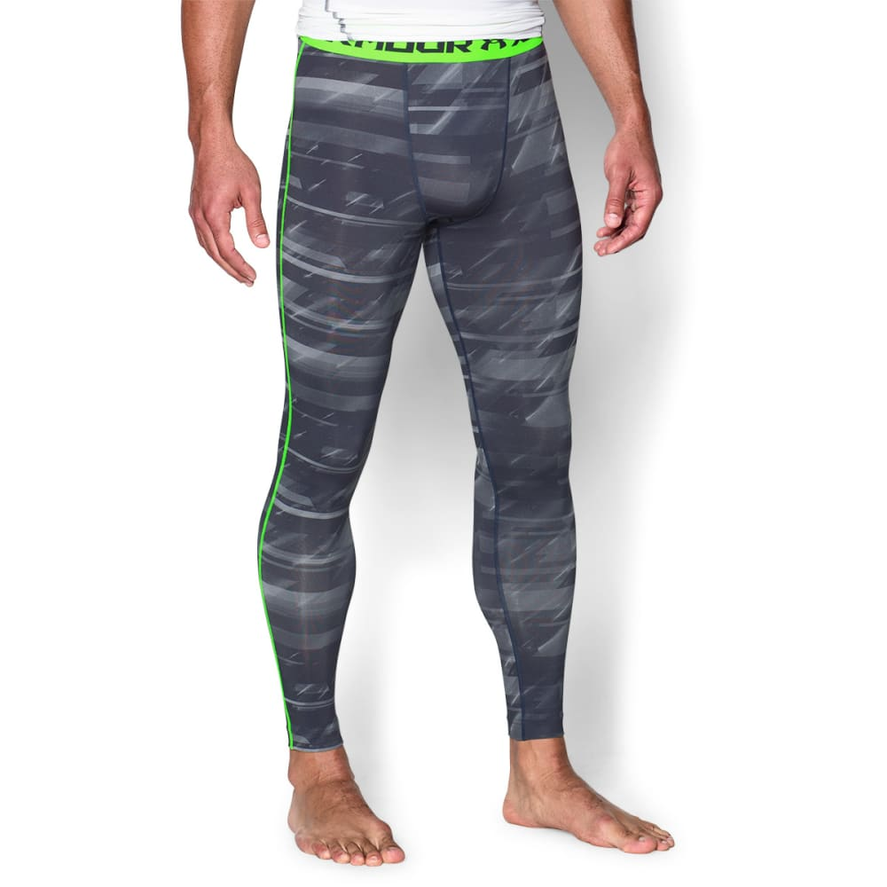 UNDER ARMOUR Men's HeatGear® Armour Printed Compression Leggings - SLATE/ORCA