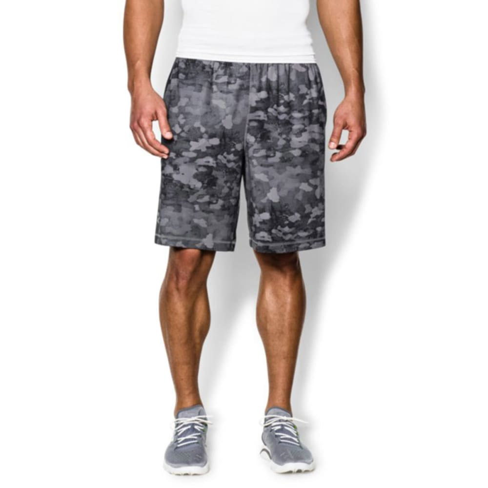 UNDER ARMOUR Men's Raid Printed Shorts - GRAPHITE/BLACK-044