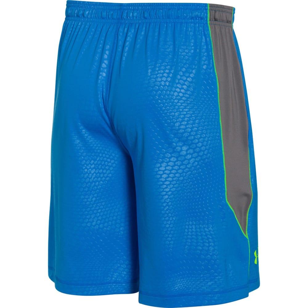 UNDER ARMOUR Men's Raid Printed Shorts - BLUE