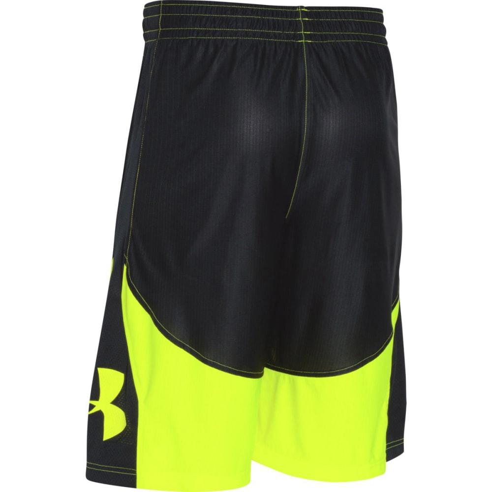 UNDER ARMOUR Men's Mo' Money Basketball Shorts - BLACK/HIVIS-003