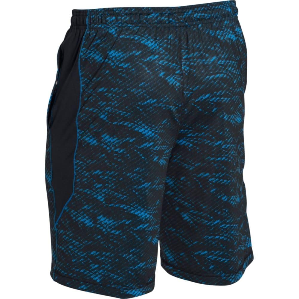 UNDER ARMOUR Men's Raid Printed Shorts - BLACK/BLUE-012