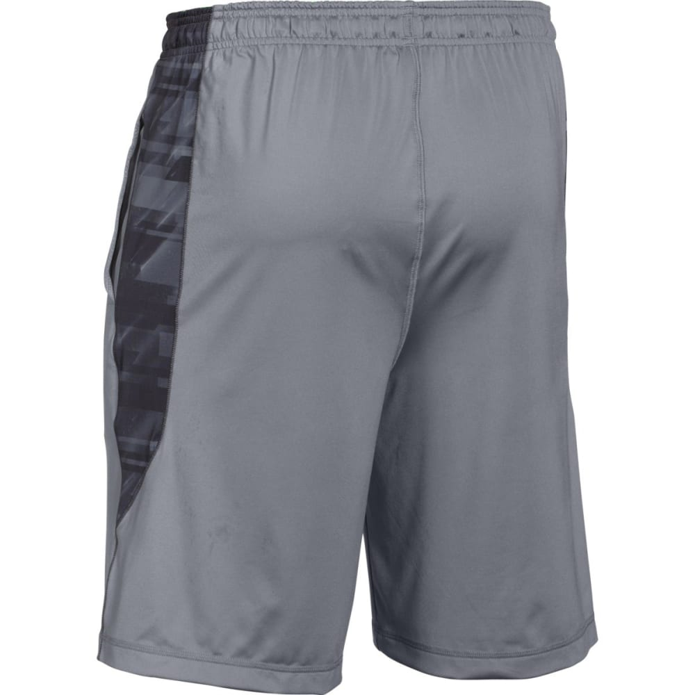 UNDER ARMOUR Men's Raid Printed Shorts - STEEL GREY/BLACK-037