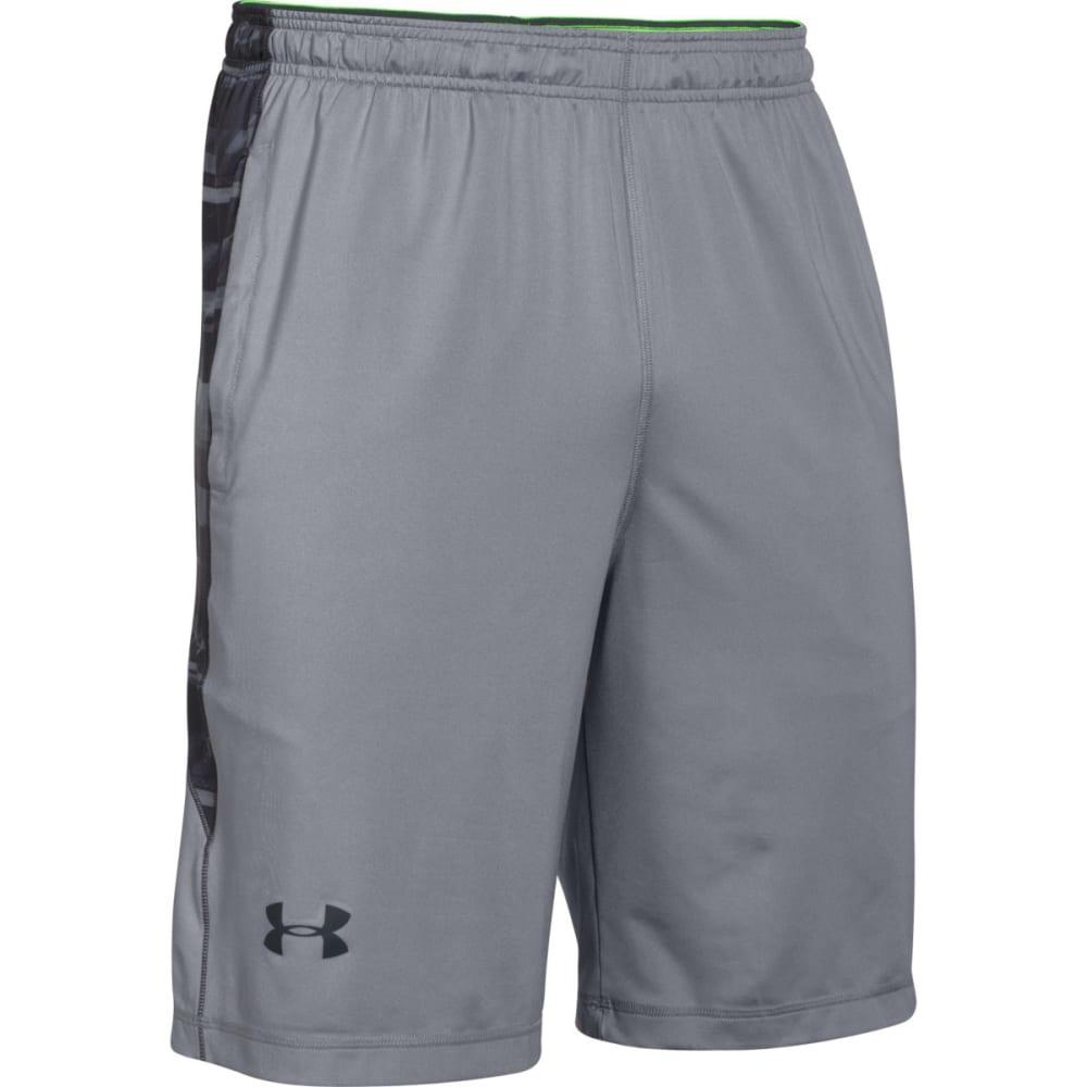 UNDER ARMOUR Men's Raid Printed Shorts - STEEL GREY/BLACK-037