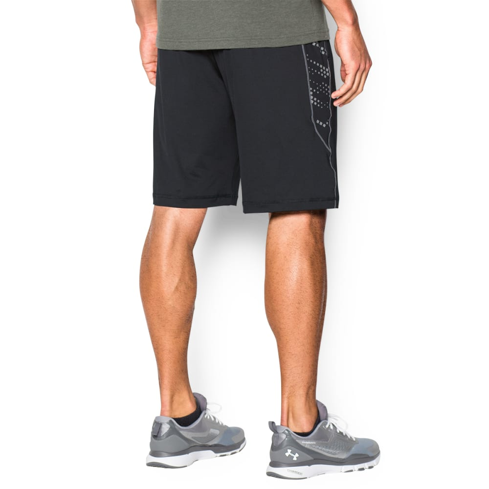 UNDER ARMOUR Men's HeatGear® Raid Graphic Shorts - BLACK-001